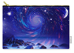 Carry-all Pouch featuring the mixed media Mystic Lights by Gabriella Weninger - David