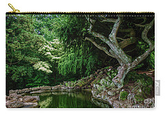 Carry-all Pouch featuring the photograph Mystical Forest I by Debra Fedchin