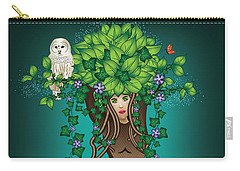Mystical Maiden Tree Carry-all Pouch by Serena King