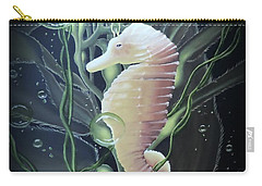 Carry-all Pouch featuring the painting Mystical Sea Horse by Dianna Lewis