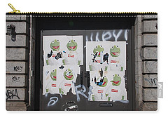 Carry-all Pouch featuring the photograph N Y C Kermit by Rob Hans