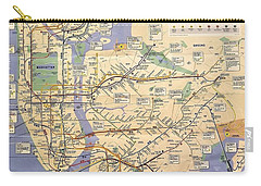 N Y C Subway Map Carry-all Pouch