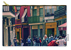 Carry-all Pouch featuring the photograph Triana On A Sunday Afternoon 1 by Mary Machare