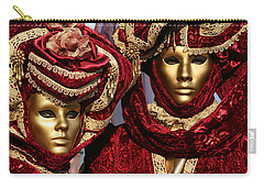 Nadine And Daniel In Red 2 Carry-all Pouch by Donna Corless