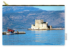 Carry-all Pouch featuring the photograph Naflion Greece Harbor Fortress by Phyllis Kaltenbach