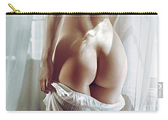Naked Back Of A Beautiful Half Nude Woman Standing By The Window Carry-all Pouch