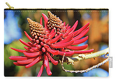 Naked Coral Tree Flower Carry-all Pouch by Mariola Bitner