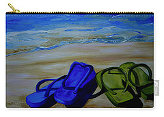 Naked Feet On The Beach Carry-all Pouch by Patti Schermerhorn
