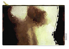 Carry-all Pouch featuring the painting Naked Female Torso  by Joan Reese
