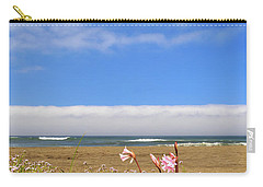 Carry-all Pouch featuring the photograph Naked Ladies At The Beach by James Eddy