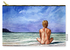 Naked Male Sleepy Ocean Carry-all Pouch