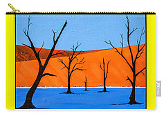 Carry-all Pouch featuring the painting Namibia Desert Duns by Ken Frischkorn