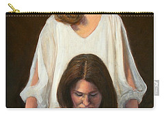 Carry-all Pouch featuring the painting Nancy And Abby by Donelli  DiMaria