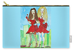 Nancy And Nicole Going Out At Night Carry-all Pouch