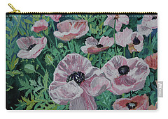 Carry-all Pouch featuring the painting Nancy's Poppies by Robin Maria Pedrero