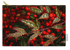 Nandinas In The Rain Carry-all Pouch