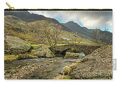 Carry-all Pouch featuring the photograph Nant Peris Bridge by Adrian Evans