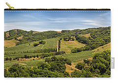 Carry-all Pouch featuring the photograph Napa Valley California Panoramic by Adam Romanowicz