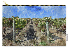 Napa Valley Vineyard - Rows Of Grapes Carry-all Pouch