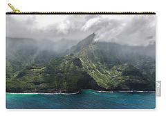 Napali Coast In Clouds And Fog Carry-all Pouch