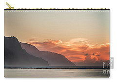 Napali Coast Kauai Hawaii Panoramic Sunset Carry-all Pouch