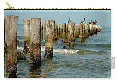 Naples Pier And Pelicans Carry-all Pouch