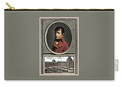 Carry-all Pouch featuring the painting Napoleon Bonaparte And Troop Review by War Is Hell Store