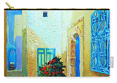 Narrow Street In Hammamet Carry-all Pouch by Ana Maria Edulescu