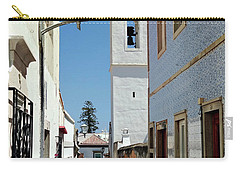 Carry-all Pouch featuring the photograph Narrow Street In Tavira - Portugal by Barry O Carroll