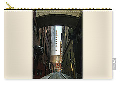 Carry-all Pouch featuring the photograph Narrow Streets Of Cobble Stone by Bruce Carpenter