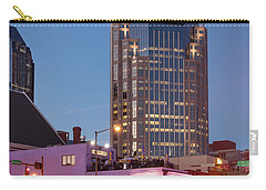 Carry-all Pouch featuring the photograph Nashville - Batman Building by Brian Jannsen
