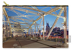 Carry-all Pouch featuring the photograph Nashville Bridge by Brian Jannsen