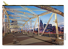 Carry-all Pouch featuring the photograph Nashville Bridge II by Brian Jannsen