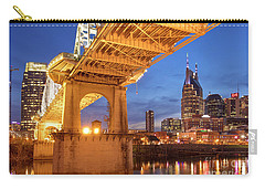 Carry-all Pouch featuring the photograph Nashville Bridge IIi by Brian Jannsen