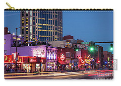 Carry-all Pouch featuring the photograph Nashville - Broadway Street by Brian Jannsen