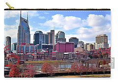 Nashville On The Riverfront Carry-all Pouch by Frozen in Time Fine Art Photography