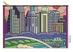 Nashville Pop Art Travel Poster Carry-all Pouch