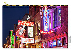 Carry-all Pouch featuring the photograph Nashville Signs by Brian Jannsen