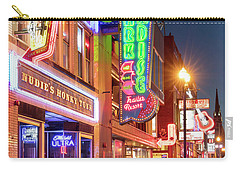 Carry-all Pouch featuring the photograph Nashville Signs II by Brian Jannsen