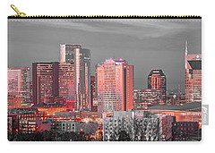 Nashville Skyline Art Version 2018 1 To 4 Ratio Panorama Color Carry-all Pouch