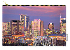 Nashville Skyline At Dusk 2018 1 To 4 Ratio Panorama Color Carry-all Pouch