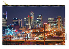 Nashville Skyline At Night 2018 Panorama Color Carry-all Pouch