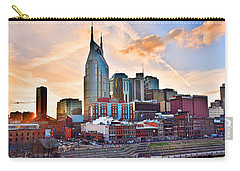 Nashville Skyline At Sunset Carry-all Pouch