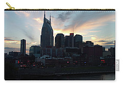 Nashville Sunset Carry-all Pouch by Nick Kirby