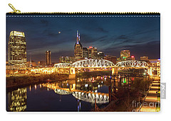 Carry-all Pouch featuring the photograph Nashville Twilight Skyline II by Brian Jannsen