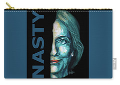 Nasty - Hillary Clinton Carry-all Pouch by Konni Jensen