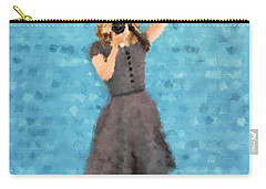Carry-all Pouch featuring the digital art Natalie by Nancy Levan