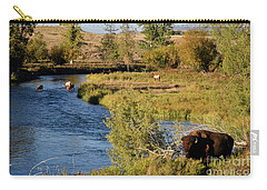 National Bison Range Carry-all Pouch by Cindy Murphy - NightVisions