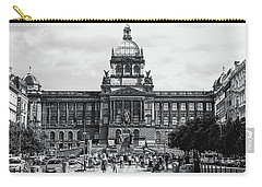Carry-all Pouch featuring the photograph National Museum At Wenceslas Square. Prague by Jenny Rainbow