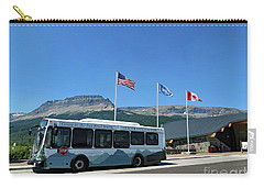 Carry-all Pouch featuring the photograph National Parks. St. Mary Visitor Center At Glacier by Ausra Huntington nee Paulauskaite